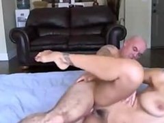 Tattooed Brunette Big Tits Blowjob And Fuck