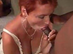 Redhead Enjoying Black Cock