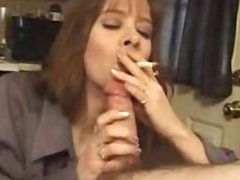 Mature smokey blowjob 2 with cum