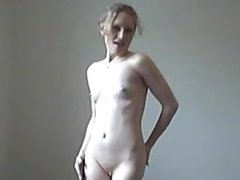 Skinny Tattooed Teen With Tiny Tits Dancing