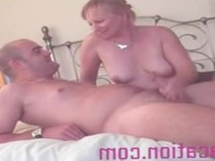 Mature Woman Giving Her Man A Delightful