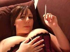 nikki smoking a cig