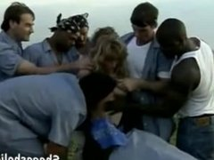Crazy Girl Gangbanged by Prison - Shagasholic