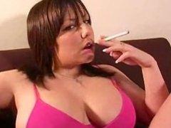 BBW having a smoke