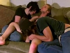 Amazing gay scene Erik, Tristan and Aron are prepared for a threeway but