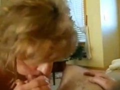 Milf with huge tits riding him