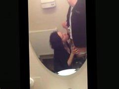 Public Toilet Blowjob On A Wedding Party