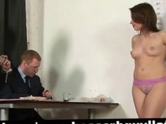 Undressing secretary during job interview