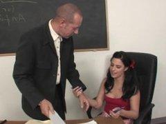 Slutty Schoolgirl Sucks and Fucks Her Teacher