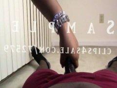 Ebony Kicks husband's BBC with High Heels