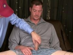 I suck 2 loads from Str8 redneck Mike's BIG cock and eat his spooge.