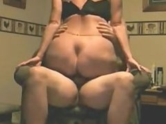 Milf with super ass riding her dick on the sofa - homemade video