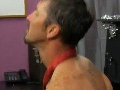 Gay sex He finds himself on his knees, fellating Drake's jizz-shotgun