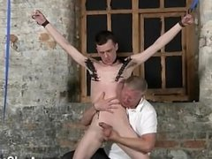 Gay movie With his fragile ball-sac tugged and his man-meat jacked and