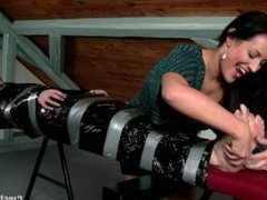 Mummified and Foot Tickled Sandra