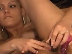 Very Hot Blonde Toying DP