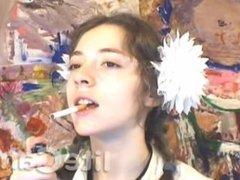 Russian Teen Smoking Fetish Dangle