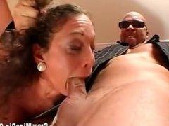 Italian Milf fucked by two Bad Boys