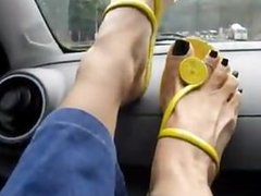 Goddess Lua - Feet on a Dashboard