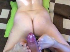 Blonde HEXE - Footjob