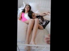 tickling two girls feet