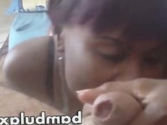 Real african teen blowjob cum in mouth!
