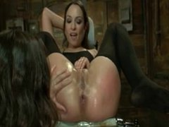 big dildo deep in asshole amber rayne and kristina rose