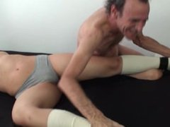 cable knee sock tickling 2