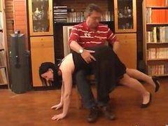 spanking naughty girl