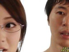 Japanese Girls entice fascinated mature woman at subway.avi