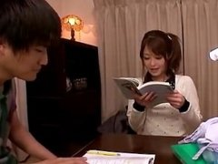 Japanese Girls masturbated with hot secretariate in bed room.avi
