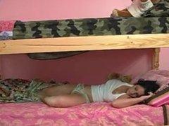 Sleeping friend awakes to suprise sex