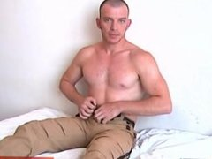 Athletic guy gets wanked his huge cock by me !