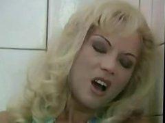 German blonde milf fucks stranger in public bathroom