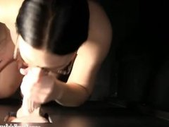 Gloryhole Secrets Nerdy babe Kaylin loves sucking cock POV 3