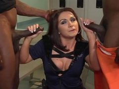 Double Dose of BBC for prison guard Lea Lexis