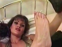 Lisa Ann vintage foot tease