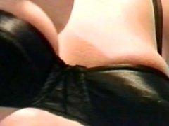 Shaved 80's slut takes black snake!