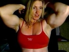 Webcam fbb licking her biceps