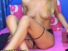 Blond Russian POV masturbation