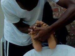 Black Woman Tickled