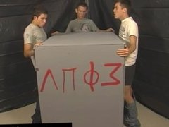 Hot gay scene This time frat-twinks Nick Angels, Braden Fox and Jesse