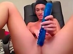 Cam Girl DP herself with a dildo