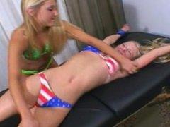 Tickling Debut - F/F, Blonde Tickles Blonde!