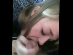 Blonde Cutie Sucks Her First Cock