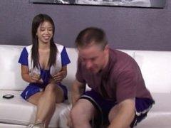 Cheerleader Asia Zo Sucks Bigcock