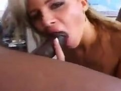Hot Blonde Babe Gets Pounded By Black Cocks