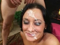 Prety Sweet Teen blow for a Huge Facial