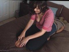 tickling Kandi's feet
