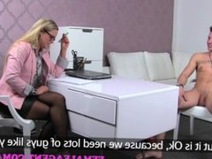 FemaleAgent. Milf lets stud cum in her mouth after fucking